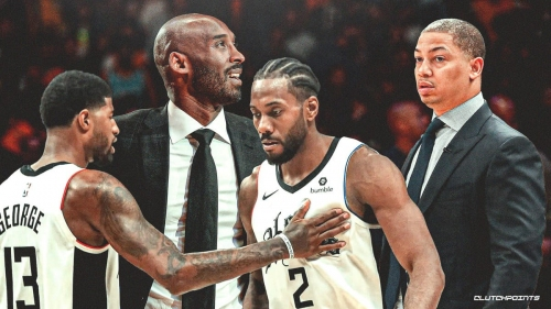 Clippers stars Kawhi Leonard, Paul George's tough questions on Kobe Bryant, per Tyronn Lue