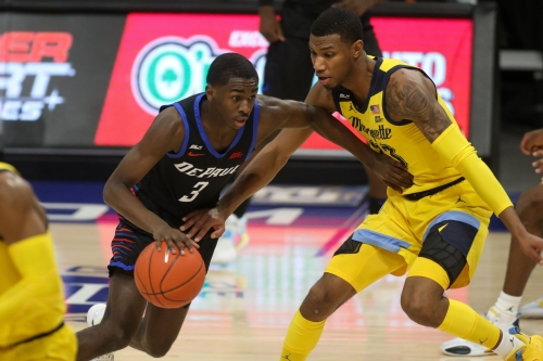 Images from Marquette's 68-61 loss to DePaul