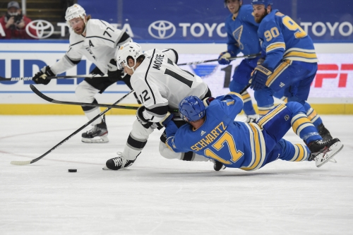 Kings tripped up by turnovers in first road game, lose to Blues