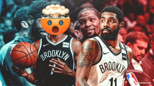Nets' Kevin Durant reacts to Kyrie Irving's crazy 18-point 4th quarter to close Heat