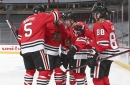 Watch: Blackhawks' Pius Suter scores first career NHL goal (then adds a second)