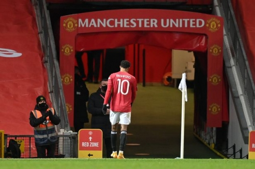 Manchester United update on Marcus Rashford injury after Liverpool win