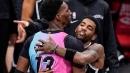 Heat's Bam Adebayo, Nets' Kyrie Irving failed jersey swap attempt showcases NBA's new hug police