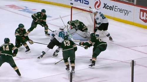 Gotta See It: Burns dangles through five Wild players before roofing puck