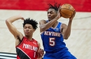 Trail Blazers 116, Knicks 113: Scenes from the game Immanuel Quickley nearly saved