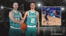Hornets' LaMelo Ball threads the needle with nifty dime to Gordon Hayward