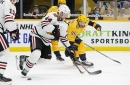 Chicago Blackhawks can't hold on to 3rd-period lead and lose 3-2 in overtime to Nashville Predators