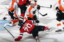Devils fall 5-3 to the Flyers as a result of costly turnovers and lapses in defensive focus.