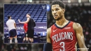 Josh Hart, king of being left hanging, gets denied high five from Brook Lopez