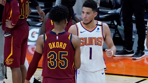 'I had to go at him a little bit.': All-Star Devin Booker hits 36 on rookie Isaac Okoro, Cavs