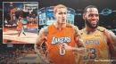 VIDEO: Lakers' Kyle Kuzma hits crazy Hail Mary heave to beat the buzzer