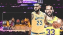 VIDEO: Lakers star LeBron James finds Marc Gasol for halftime buzzer-beater