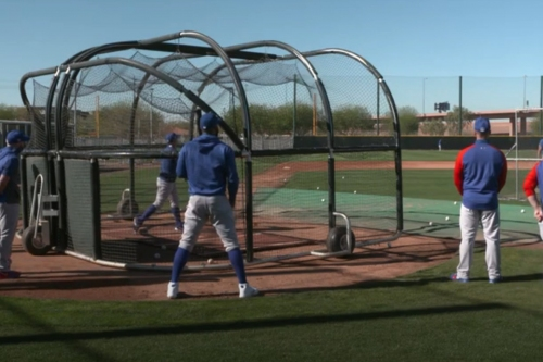 2021 Cubs spring training: Batting practice and pitcher workout video