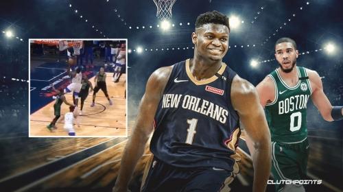 VIDEO: Celtics' Jayson Tatum, Pelicans' Zion Williamson trade clutch buckets to send game to overtime