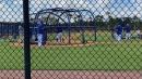 NY Mets shortstop Francisco Lindor takes batting practice
