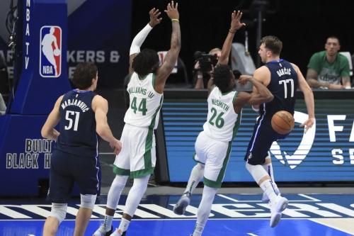 Dončić heroics propell Dallas Mavericks to 110-107 win over Boston Celtics