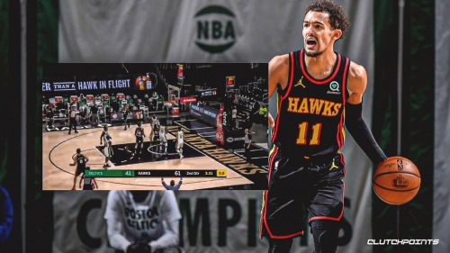 VIDEO: Hawks star Trae Young uses clever trick for in-bounds basket vs. Celtics