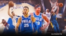 Sixers' Dwight Howard, Ben Simmons team up for massive swat, dunk