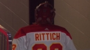 David Rittich gets pulled, headbutts wall after allowing centre ice goal