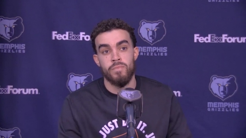 Grizzlies' Tyus Jones on his career-night and the team having fun in win over Cl