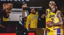 VIDEO: Lakers star LeBron James shares special moment with Blazers' Carmelo Anthony prior to tip-off