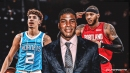 Hornets' LaMelo Ball called out by Warriors announcer for stealing Carmelo Anthony's celebration