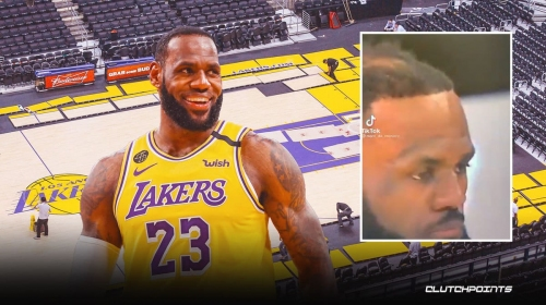 VIDEO: LeBron James gets hilarious assist on hair situation from Lakers bench
