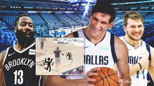 Video: Boban Marjanovic's amazing warmup routine is probably how Mavs beat Nets