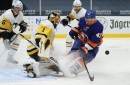 Recap: Sleepy Penguins fall 2-0 to Islanders at end of a road trip