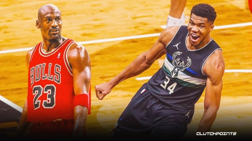 Bucks star Giannis Antetokounmpo ties a Michael Jordan's career feat at just the age of 26