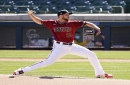 Diamondbacks pitcher Merrill Kelly shows encouraging velocity in return from surgery