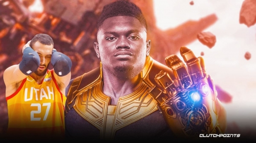 VIDEO: Pelicans star Zion Williamson goes full Thanos against Rudy Gobert