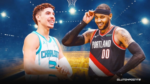 Carmelo Anthony, LaMelo Ball share awesome moments amid 'Melo' debate