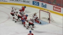 Perry's slick feed finds Gallagher for tap in goal