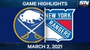 Buchnevich records goal and assist as Rangers edge Sabres