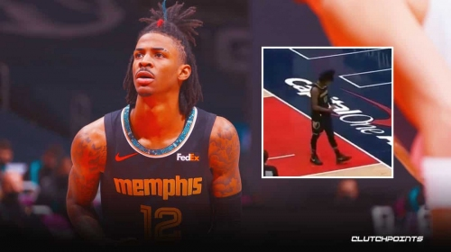 [VIDEO]: Grizzlies Ja Morant taunts Wizards with savage gesture after and-one bucket