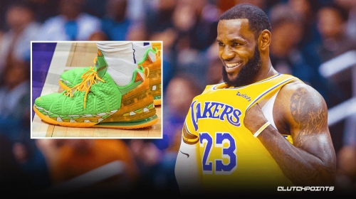 LeBron James shouts out inspiration for his crazy kicks during Lakers vs. Suns