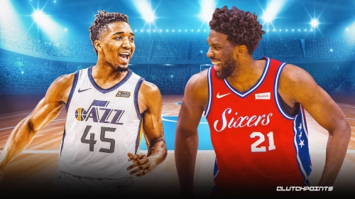 Jazz star Donovan Mitchell's 4-word reaction to Joel Embiid getting him a technical foul