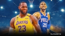 Sixers star Ben Simmons reacts to being drafted by Team LeBron