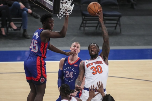 Knicks 114, Pistons 104: Scenes from Julius Randle putting on an All-Star show before the All-Star Game
