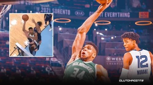 Bucks star Giannis Antetokounmpo shows off insane skills with tough shot vs. Grizzlies