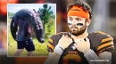 While Browns' QB Baker Mayfield is seeing UFOs, one of his linemen is carrying gators