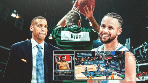 Warriors' Stephen Curry hilariously reacts to Reggie Miller asking if he pulled a Larry Bird