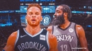 James Harden reacts to Blake Griffin signing with the Nets