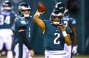 Jalen Hurts reacts to Carson Wentz trade, talks improving as the Eagles' starting quarterback
