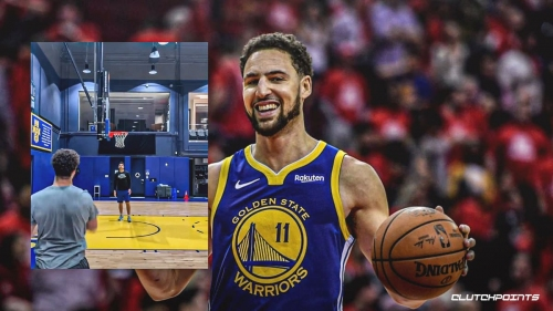 Warriors' Klay Thompson shows massive progress in injury recovery, drains 12 straight no-jump triples