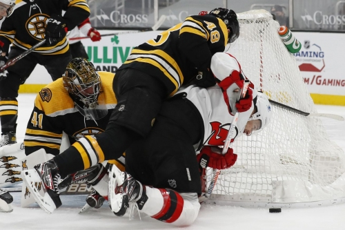 Controversy late as Bruins miss out on two goals in 1-0 loss to New Jersey