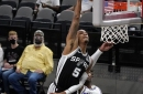 Dejounte Murray skies, posterizes Buddy Hield in first quarter vs. Kings