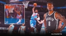 Nets' Jeff Green takes a trip down memory lane with huge slam off Kyrie Irving dime