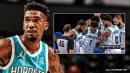 Hornets' Malik Monk exits game with apparent leg injury, carried to locker room
